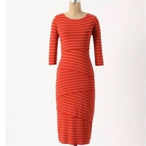 Striped knit column Dress Anthropologie size small